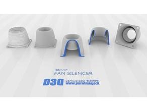 fan silencer v1 40mm - 38mm 3d printer accessories 40mm fan mount alfawise u10 fan fan silencer pocket fan silencer silencer