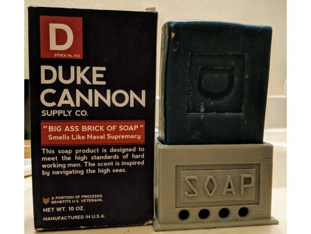 duke's soap holder bathro