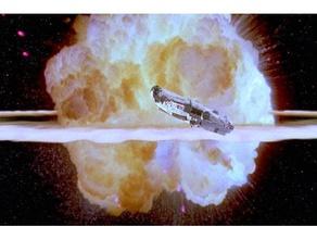 death star explosion lithophane death star death star exploding death star lithophane explosion lithophane star wars tabletop