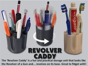 revolver caddy organization bathroom bathroom accessories birthday brush caddy christmas cool designer desk desktop fun functional gamesworkshop gift gun handy holder home household inique kitchen kitchenware mens moving moving parts muzz64 office office accessory organiser organization organizer pen pen holder practical present revolver revolver caddy rifle rotating spinning stand stationery storage tidy tooth tooth paste holder toothbrush toothbrush holder useful weapon work workshop