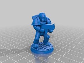 ultramarine tactical space marine warhammer 40000 w40k 3d printing