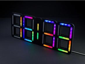 retro 7 segment clock complete hobby arduino arduino nano ds3231 led strip ws2812 ws2812 led