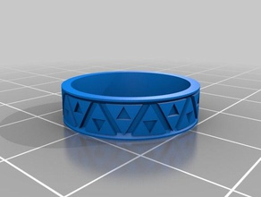 my customized zeldathon recovery triforce bas relief ring ring size 725 5mm tall rings