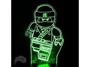 ninjago lloyd led lamp plate 2d art led strip lego ninja lego ninjago mendelmax