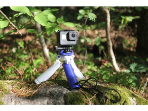 gopro tripodhandle hybrid camera action action cam action camera camera tripod fully 3d printed fully printable gopro accessory gopro gadget gopro handle gopro hero gopro hero 3 gopro hero 4 gopro hero new gopro mount gopro session gopro session mount hiking outdoor outdoors skiing tripod mount
