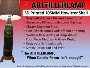artillerlamp models 105mm artillery 105mm howitzer ammunition artillery lamp artillery light field artillery king battle lamps makerstevecom munitions redleg towed artillery trench art