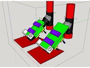 xiaomi m365 clamp Roller frame Montage-add-Kasten-Beutel-plateau et collier serrage rajout pour boite ou sac &ndash 200x100 ou 160x75 mm sport im freien
