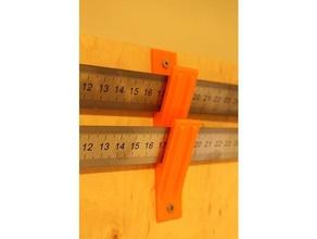 steel rule wall mount tool holders boxes fablab hackerspace inox lineal makerspace measure measurement tool rostfrei rule holder ruler holder rulers ruler centimeters stainless steel ruler steel scale tool holder tools wandhalter wandhalterung werkstatt werkzeughalter workshop