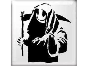 heureux reaper pochoir 2d art faucheuse heureux reaper sourire pochoir