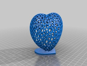 voronoi heart w stand no letters 3d printing