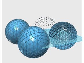 geodesic sphere 5v math art geodesic 5v sphere