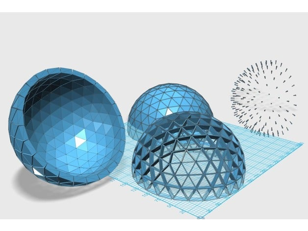 geodesic dome 5v math art