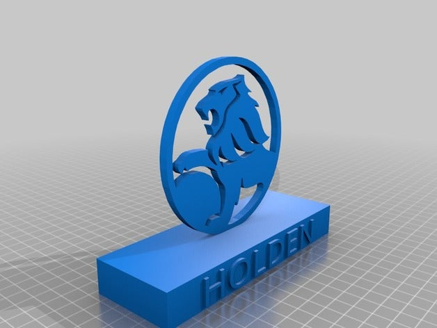 holden sign 3d printing h