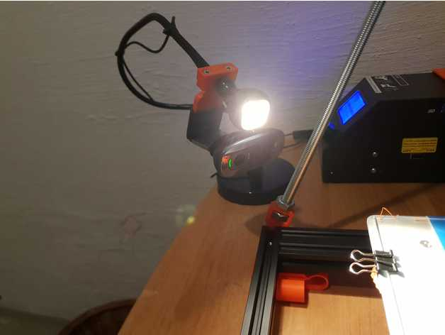 c270 mount holder lamp 3d