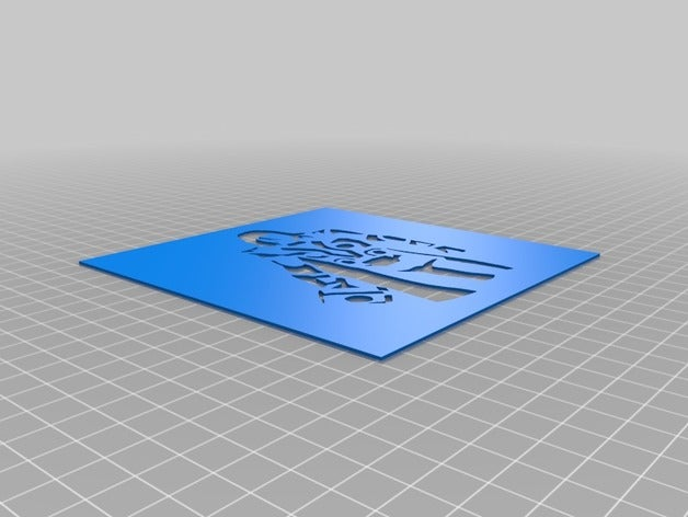 thor 3d printing stencil