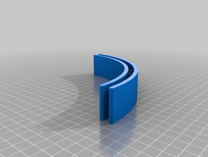 epsblock 14x122x30 mm bloco curvo 3d printing miniatura icf sistema construtivo sistema icf