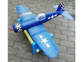 f4u corsair testpart fuselaje rc los vehículos