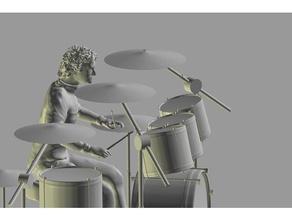 roger taylor scolpire sculture bohemian rhapsody drum set queen wembley