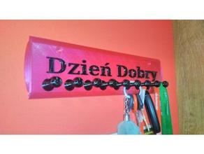 tecla de colgar wieszak hacer kluczy 3d la impresión dzie dobry llavero klucze polska