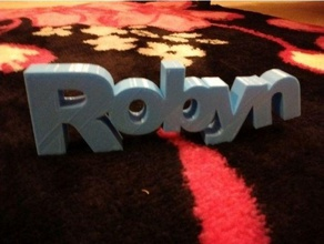 robyn signs & logos 3d names name names robyn