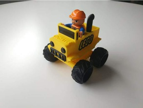 duplo monster truck construction toys car lego compatible