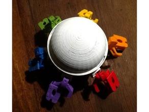 dome hemispherique pour vorpal 3d printing hexapod vorpal hexapod