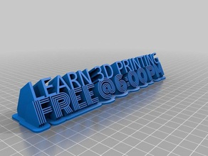 3d printin class sign signs logos customized