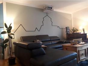 contorno a parete cablaggio 2d art beamer cablaggio elettrico festung rosenberg kronach filo filo conduttore