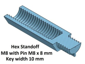 hex key wide 10 mm standoff10 20 30 40 50 60 70 80 90 100 mm m8 pin m8x8 3d printer parts hex standoff spacer spacer 10 spacer 100 spacer 20 spacer 30 spacer 40 spacer 50 spacer 60 spacer 70 spacer 80 spacer 90 thread m8