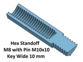 hex key wide 10 mm standoff 10 20 30 40 50 60 70 80 90 100 mm m8 pin m10x10 3d printer parts hex standoff spacer spacer 10 spacer 100 spacer 20 spacer 30 spacer 40 spacer 50 spacer 60 spacer 70 spacer 80 spacer 90 thread m10 thread m8