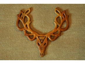 leshy pendant mythological elements fashion alchemical alchemy antlers creature deer deer head earth flat forest leshen necklace skull symbol witcher witcher 3