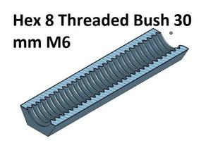 hex 8 mm threaded bush 10 20 30 40 50 60 70 80 90 100 mm m6 3d printer parts thread m6 threaded bush 100 threaded bush 20 threaded bush 30 threaded bush 40 threaded bush 50 threaded bush 60 threaded bush 70 threaded bush 80 threaded bush 90
