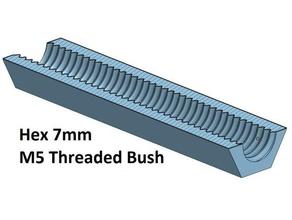 hex 7 mm threaded bush 10 20 30 40 50 60 70 80 90 100 mm m5 3d printer parts thread thread m5 threaded bush 100 threaded bush 20 threaded bush 30 threaded bush 40 threaded bush 50 threaded bush 60 threaded bush 70 threaded bush 80 threaded bush 90