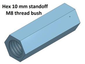 hex 10 mm threaded bush 10 20 30 40 50 60 70 80 90 100 mm m8 3d printer parts threaded bush 60 thread m8 threaded bush 100 threaded bush 20 threaded bush 30 threaded bush 40 threaded bush 50 threaded bush 70 threaded bush 80 threaded bush 90