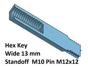 hex 13 spacer standoff 20 30 40 50 60 70 80 90 100 mm m10 pin m12 3d printer parts spacer 70 hex standoff spacer 100 spacer 20 spacer 30 spacer 40 spacer 50 spacer 60 spacer 80 spacer 90 thread m10 thread m12