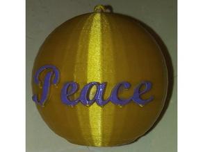 peace ornament iec3d decor christmas christmas decoration christmas ornament christmas ornaments christmas tree peace earth peace contest peace sign peace symbol table decoration
