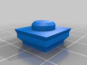 el capitel 2 cuadrado de 1x1 de la construcción juguetes