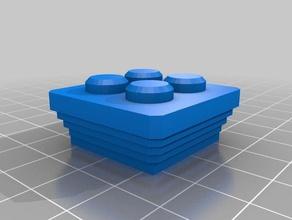 el capitel 1 pila cuadrada de 2x2 de la construcción los juguetes exin castillos