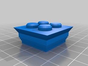 el capitel 2 pila cuadrada de 2x2 de la construcción los juguetes exin castillos