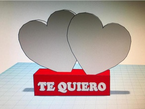pedestal corazones te quiero 3d printing amor corazon corazones love pedestal san valentin te quiero