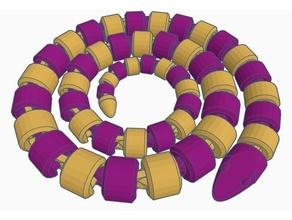 çift eklemli büyük yılan-ekstruzyon hayvanlar flexi esnek polymathic