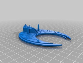necron cairn class tombship 3d printing battlefleet gothic