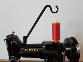 singer featherweight 221-222k thread stand diy machine sewing spool