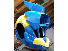 destiny 1 warlock helmet costume armor blue bungie destiny destiny game destiny warlock horn low poly science fiction scifi space stl warlock bond yellow