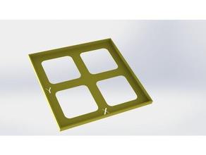 carr&eacute 100x100 mm pour &eacutetalonnage stepsmm axes prusa i3 3d printing tests prusai3mk2 prusai3mk3 calibration part calibration test rglage axes et tuning stepsmm