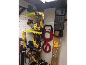 dewalt 20v tool mounts pegboard tools dewalt drill dewalt grinder dewalt impact dewalt pegboard mount dewalt sawzall dewalt battery