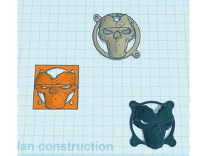 sith máscara da morte tampa da ventoinha 3d impressão