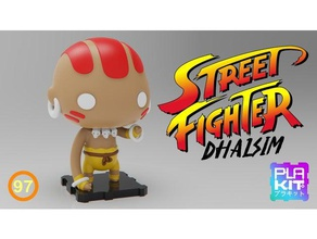 street fighter dhalsim toys games action figure collectible collection figurine miniature nsfw plakit purakito streetfighter toymaker