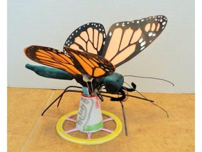 stand octozeros articulated monarch butterfly mechanical toys