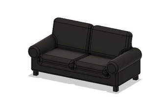 doll house stuff - couch model furniture couch doll dollhouse doll furniture doll house doll house couch miniature pillow